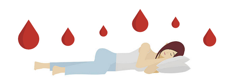 Rusty colour blood flow during menstruation